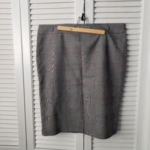 Chaps Plaid Pinstripe Pencil Skirt